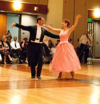 Maureen Hickey performs with partner Terry Perrone